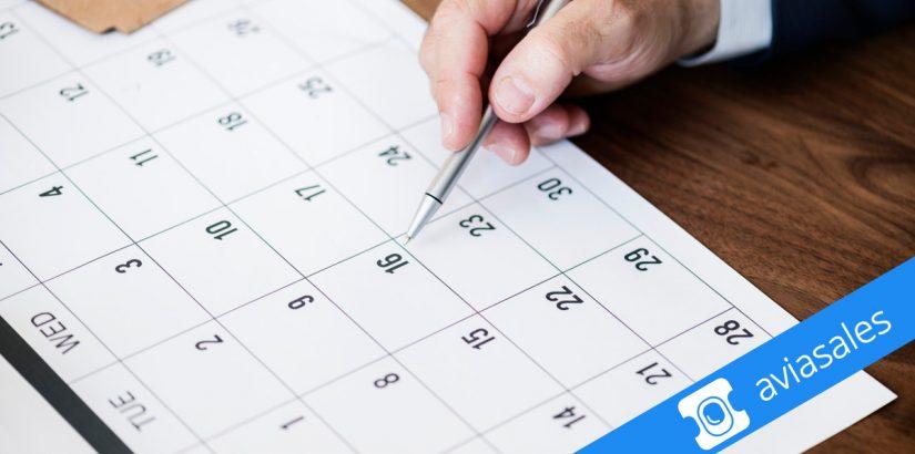 Ищем дешёвые авиабилеты с календарём Aviasales