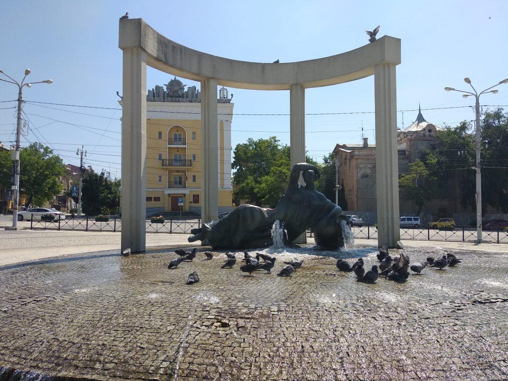 Астрахань фонтан