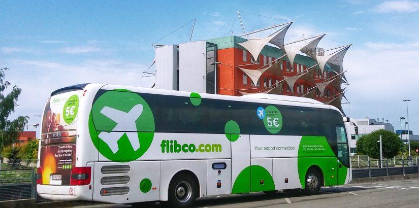Flibco: трансфер на автобусе между аэропортами